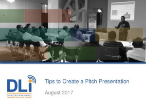 DLIIC - Pitch Presentation Tips