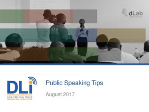 DLIIC - Public Speaking Tips